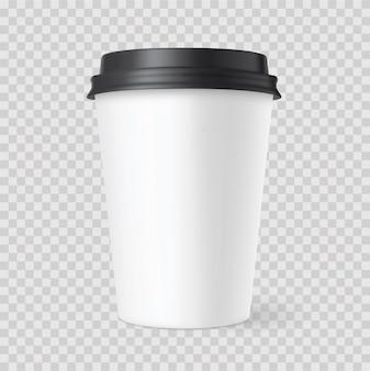 Tazze di caffè realistiche del libro bianco con ombra