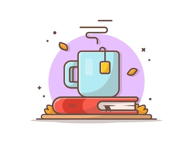 Tè caldo sul libro