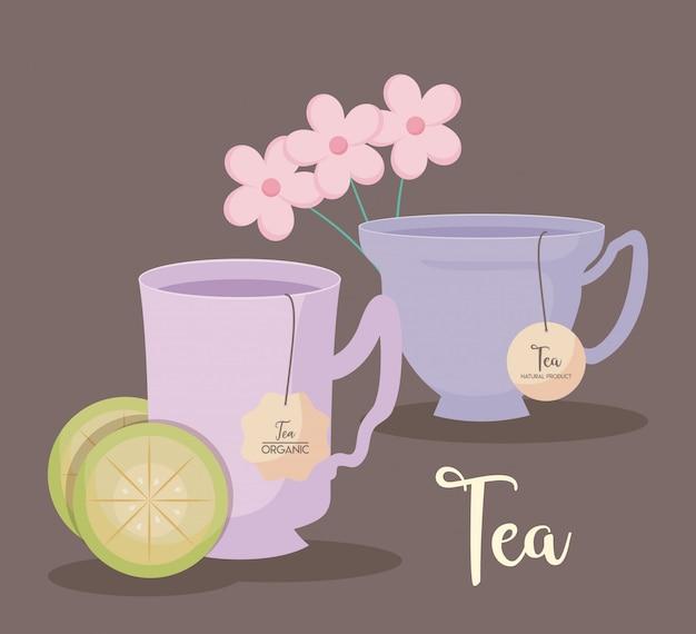 Tè naturale delle tazze isolato