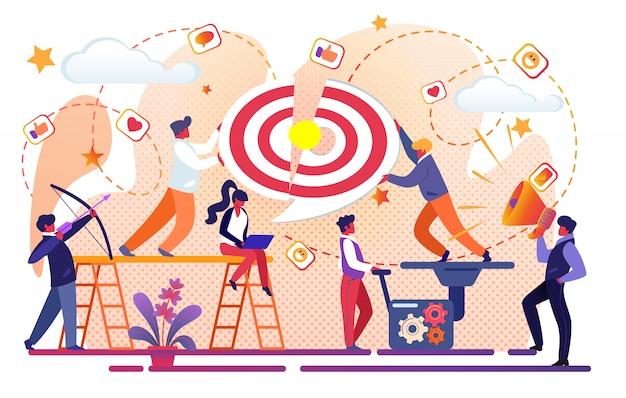 Team creativo di office people che lavora per il successo aziendale.