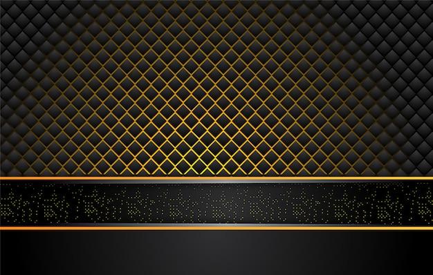 Tech sfondo nero con contrasto strisce giallo arancione.