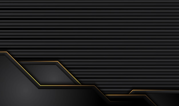 Tech sfondo nero con strisce gialle a contrasto.