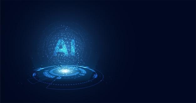 Tecnologia astratta ai che calcola sul cerchio