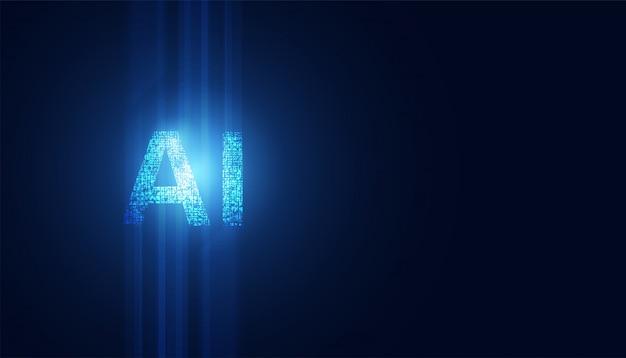 Tecnologia astratta ai machine learning di intelligenza artificiale di fantascienza