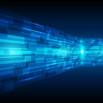 Tecnologia astratta blu