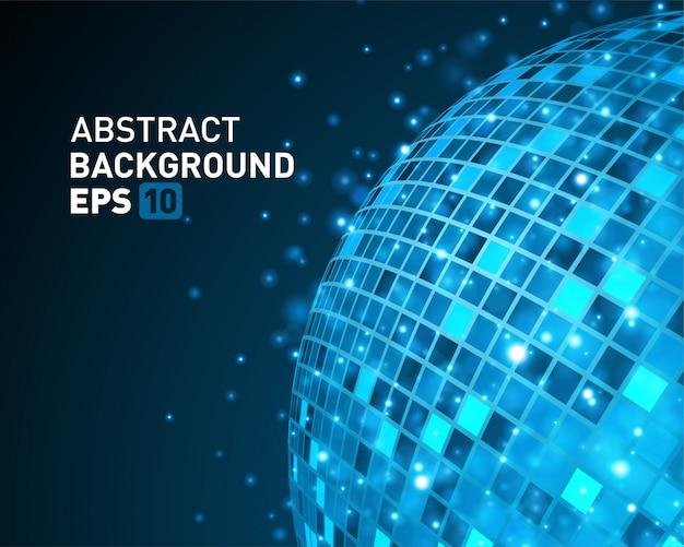 Tecnologia astratta della sfera del cavo 3d ed effetto della luce di incandescenza