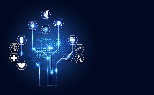 Tecnologia astratta digitale salute medica