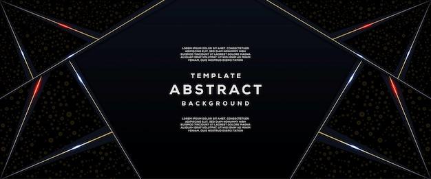 Tecnologia astratta e futuristica con sfondo geometrico sfumato