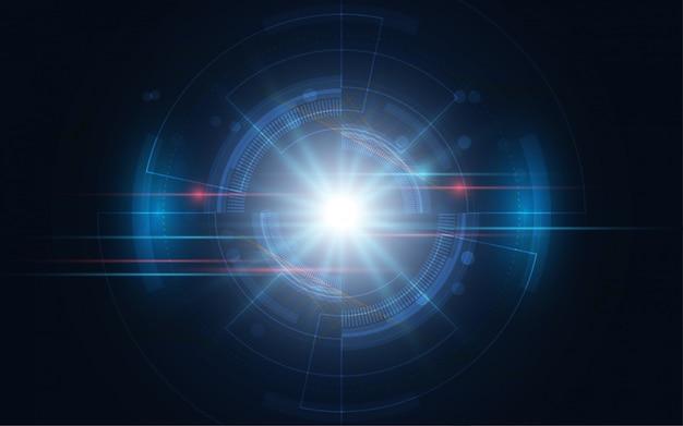 Tecnologia astratta sfondo innovazione concetto di comunicazione hi-tech