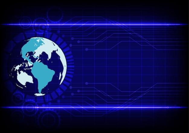 Tecnologia astratta tecnologia elettronica linea sfondo blu