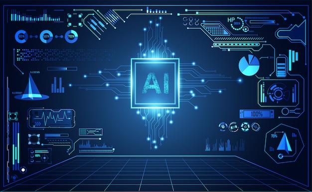 Tecnologia astratta ui futuristica