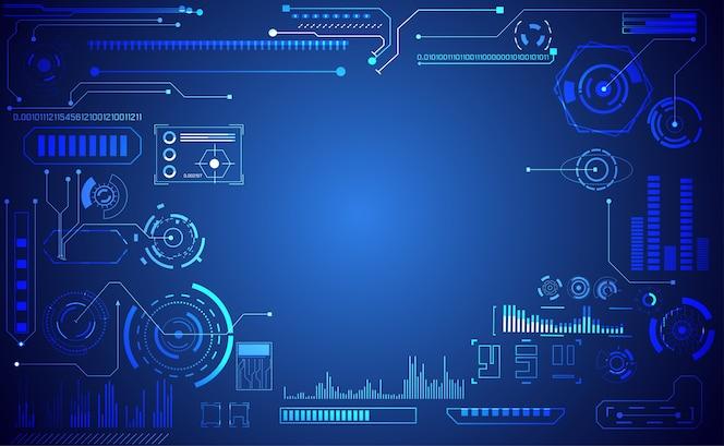 Tecnologia astratta ui futuristico