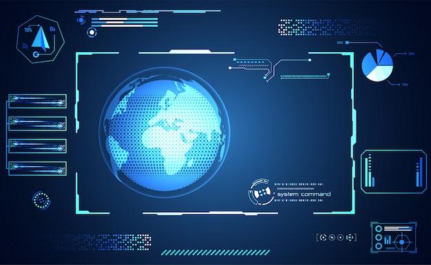 Tecnologia astratta ui mondo futuristico