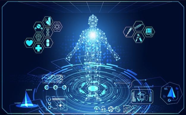 Tecnologia astratta ui umano futuristico