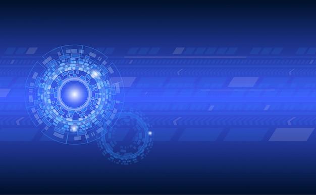 Tecnologia astratto con cerchi e linea