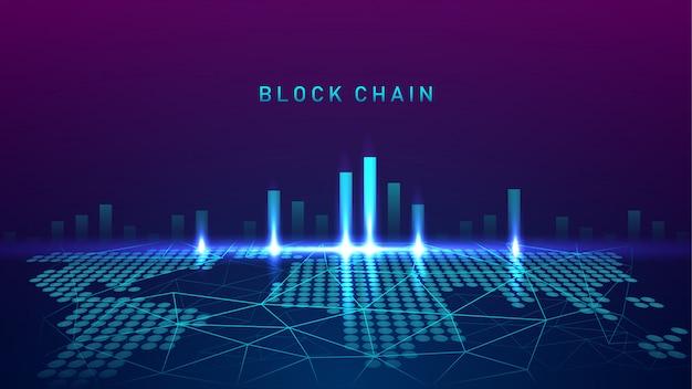 Tecnologia blockchain con test di concetto di connessione globale