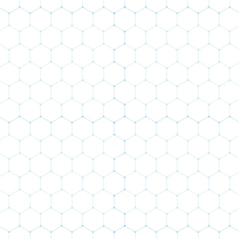 Tecnologia blu astratta esagono bianco