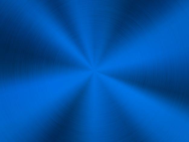 Tecnologia blu sullo sfondo di metallo