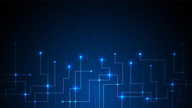 Tecnologia circuitale con sistema di connessione dati digitale hi-tech ed elettronica informatica