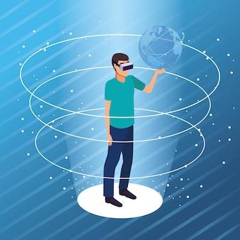 Tecnologia degli occhiali per realtà virtuale