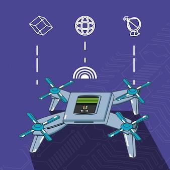 Tecnologia dei droni imposta gadget