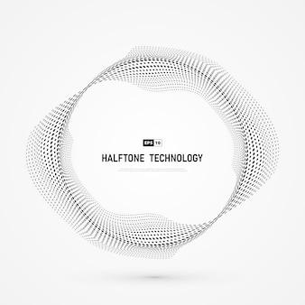 Tecnologia del cerchio di semitono punto astratto.