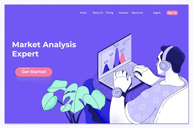 Tecnologia di big data per il concetto analitico di finanza di affari
