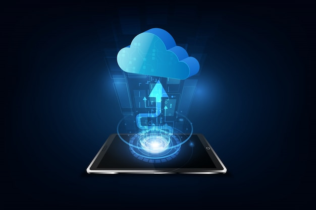 Tecnologia di cloud computing internet storage network