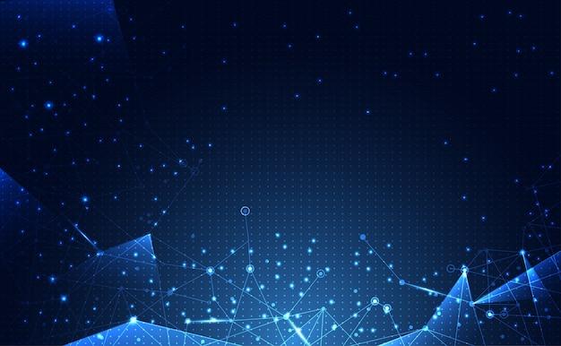 Tecnologia di connessione astratta della scienza di rete