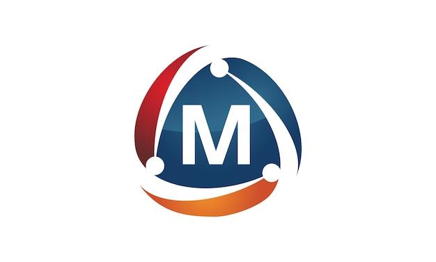 Tecnologia di distribuzione aziendale di marketing online lettera m