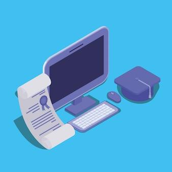 Tecnologia di formazione online con desktop