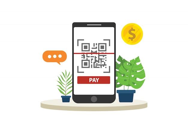 Tecnologia di pagamento mobile qr-code
