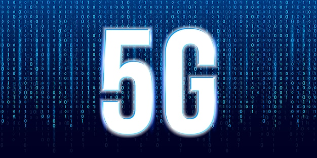 Tecnologia di trasmissione del segnale 5g, internet wifi.