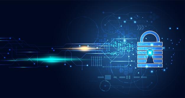 Tecnologia digital cyber security rete di informazioni sulla privacy