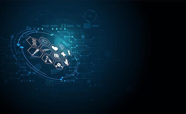 Tecnologia digitale del fondo di sanità di scienza medica astratta di sanità