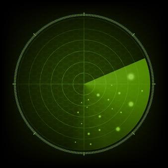Tecnologia digitale futuro radar astratto
