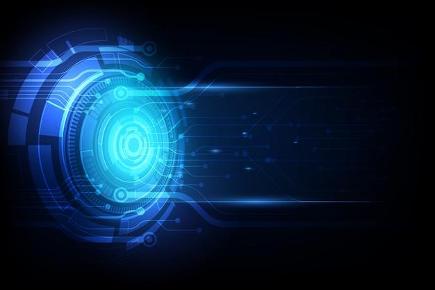 Tecnologia futura astratta, sfondo di telecomunicazioni elettriche