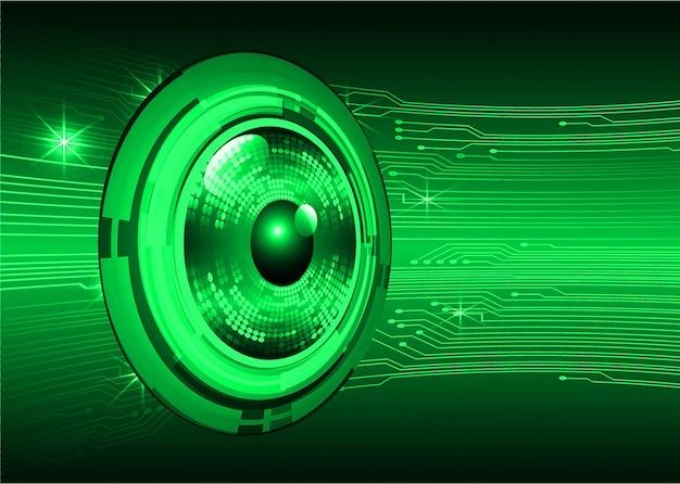 Tecnologia futura del circuito cyber dell'occhio verde