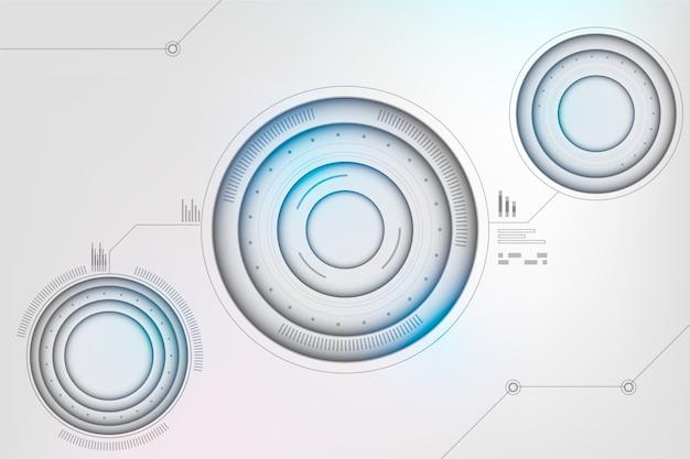 Tecnologia futuristica sullo sfondo