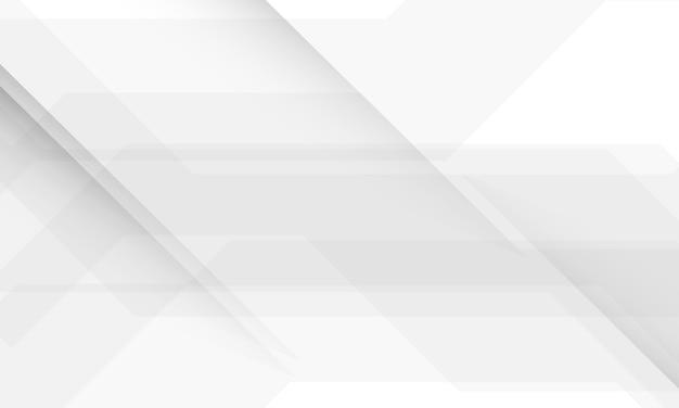 Tecnologia geometrica di tecnologia bianca e grigia del fondo astratto di struttura moderna.