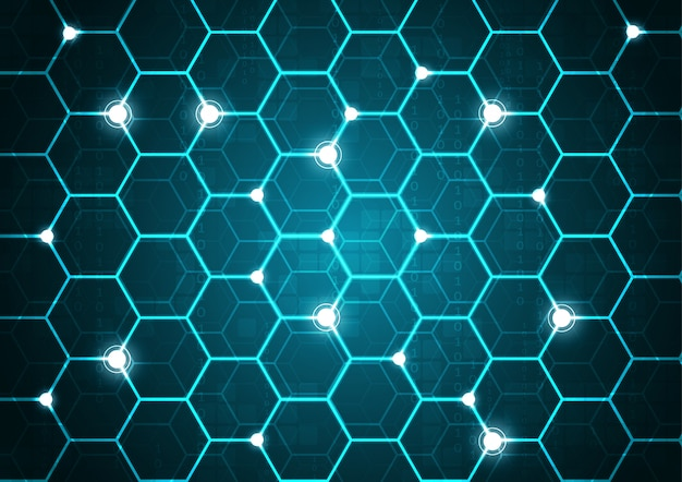 Tecnologia high tech geometrica