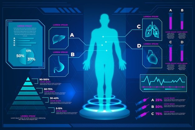 Tecnologia infografica stile medico