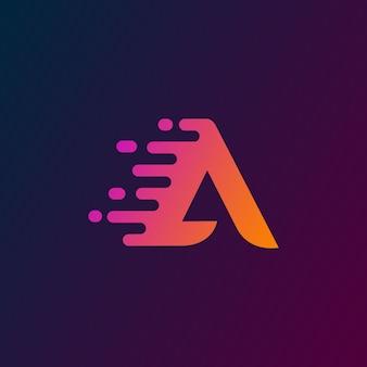 Tecnologia iniziale lettera a logo design