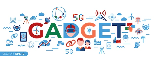 Tecnologia mobile 5g e raccolta di icone di rete