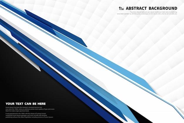 Tecnologia moderna astratta del fondo blu e bianco della decorazione di progettazione del modello.