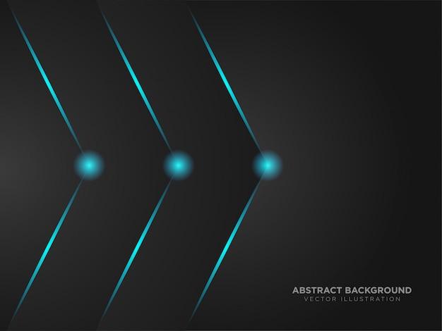 Tecnologia moderna della disposizione di colore nero metallico astratto freccia destra