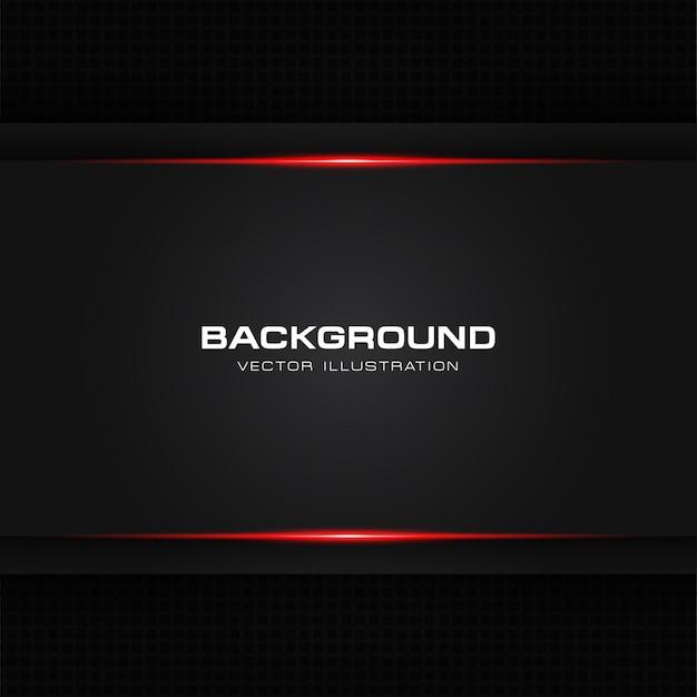 Tecnologia moderna di disposizione del blocco per grafici nero rosso lucido metallico astratto