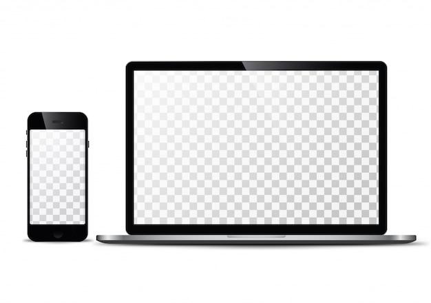 Tecnologia moderna, smartphone, tablet, computer e notebook