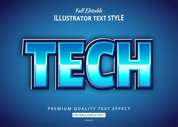 Tecnologia scifi effetto testo in stile 3d