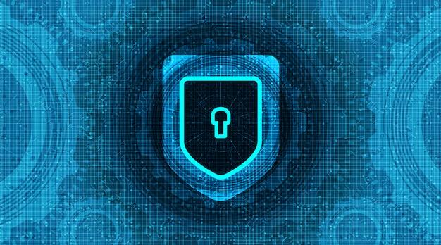 Tecnologia scudo sfondo di sicurezza